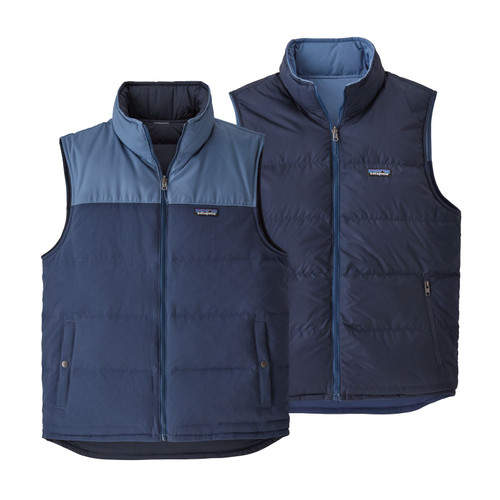 Patagonia Reversible Bivy Down Vest - Men's - Stone Blue