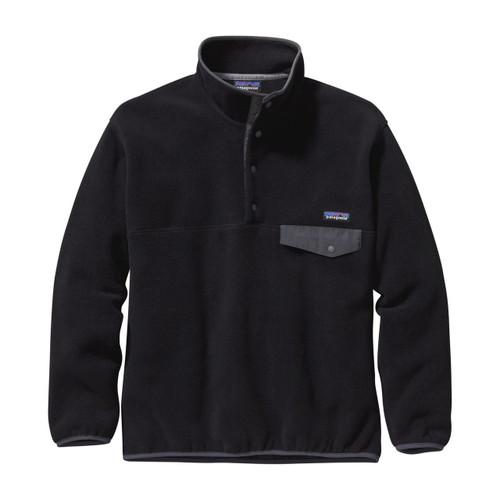 Patagonia Synchilla Snap-T Pullover  - Men's - Black/Forge Grey
