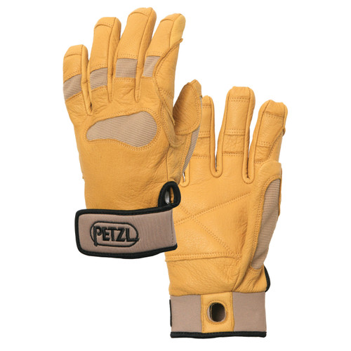 Petzl Cordex Plus Belay Glove in Tan