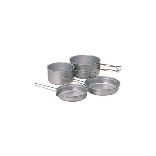 Snow Peak Multi Compact Cookset - One Size - Titanium