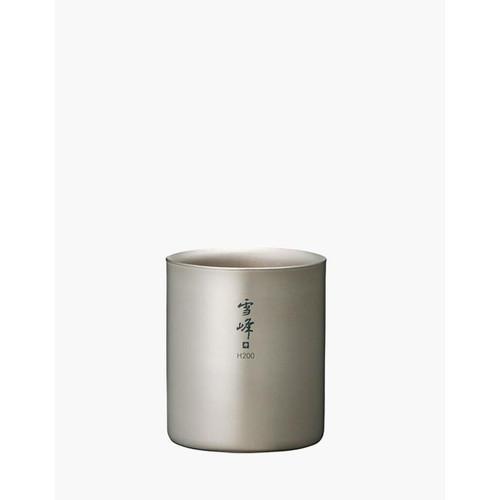 Snow Peak Seppou Titanium Double Wall Stacking Mug - 200 ml