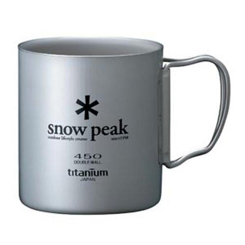 Snow Peak Titanium Double Wall Cup 450 in Titanium