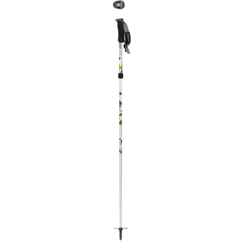 Swix Sonic R4 Adjustable Ski Poles - Silver/Yellow