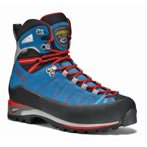 Asolo Elbrus GV Mountaineering Boots - Men's - Blue/Astor Silver