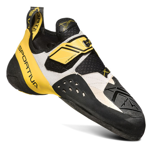 La Sportiva Solution Rock Climbing Shoes - Men's - White/Yellow