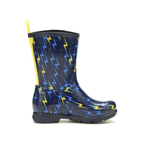 Muck Boots Kid's Bergen Boots - Navy/Yellow Lightening