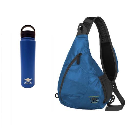 OMCGEAR Sling Pack - One Size - Blue w/ Bottle