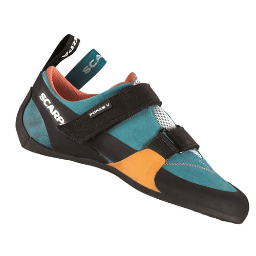 Scarpa Force V Rock Climbing Shoe - Women's - Ice Fall/Mandarin Red