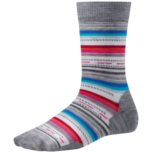 Smartwool Margarita Crew Ultra Light Cushion Socks - Women's - Light Gray Heather