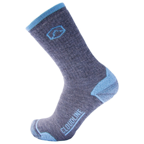 CloudLine Merino Wool Crew Hiking & Trekking Socks - Medium Cushion - for Men & Women -  Backcountry Blue