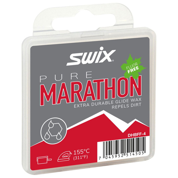 Swix Pure Marathon Black Fluor-Free Ski Glide Wax