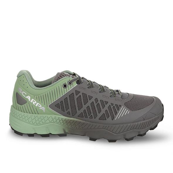 Scarpa Spin Ultra Trail Running Shoe - Womens - Shark/Mineral Green