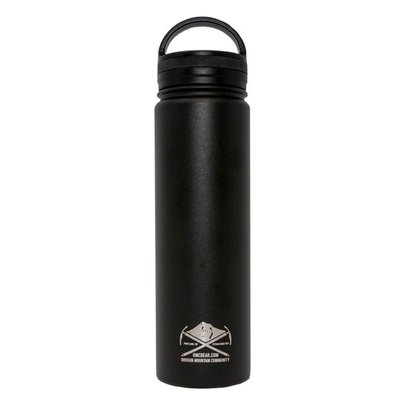 OMCGEAR Stainless Steel Vacuum Insulated Wide Mouth Bottle - 22oz - Black
