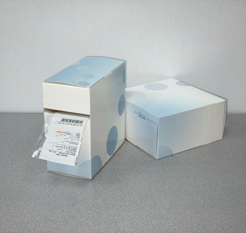 Strip Pouch Dispenser Box - 6 x 6 x 3 1/8