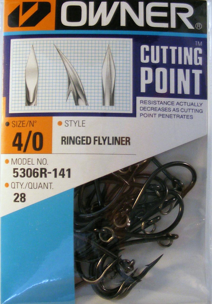 Owner Ringed Flyliner Hooks 5306R-141 Pro Pack 28 hooks per pack 4//0 size