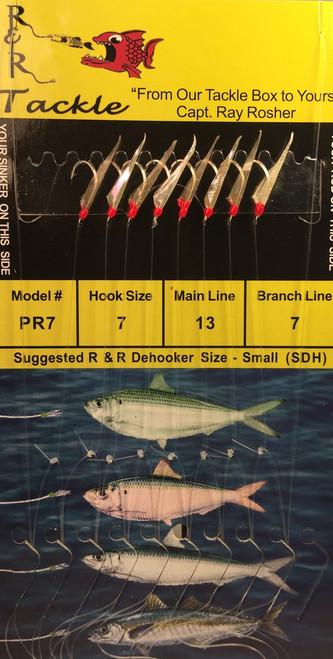 R&R Pr-7 Sabiki Rig 8 Hk Pilchard/ Red Head/ Threadfin Size 7 (Ss) Hooks