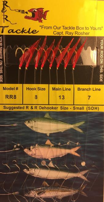 R&R Rr-8 Sabiki Rig 8 Hk Threadfin/ Cigar/ Red Skin/ Red Head Size 8 Hooks