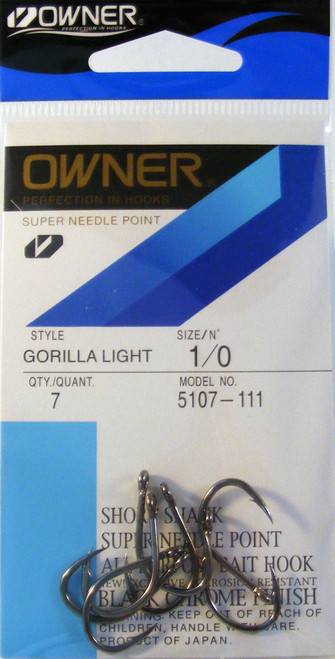 Gorilla Light Hooks Pocket Pak 7/ Pack Size 1/0
