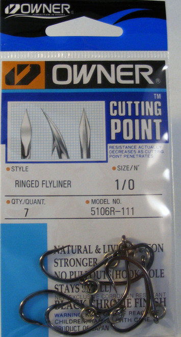 Ringed Flyliner Hooks Pocket Pak 7/ Pack Size 1/0