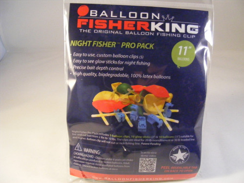 "Balloon Fisher King Night Fisher Pro Pack 11"" balloons"