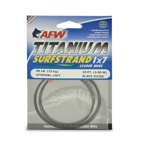 Titanium 1x7 wire by the foot 50lb.
