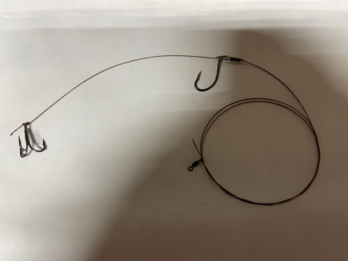 You pick your wire and embellishment the hooks are Owner #2 w/ring and 4x #6 VMC