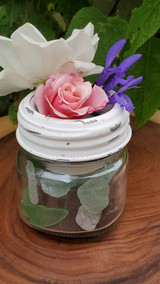 sundry jar accessory cup, sea glass, vase