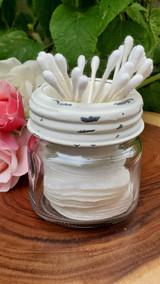 sundry jar accessory cup, q-tip caddy
