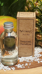 tropical body oil, fruity