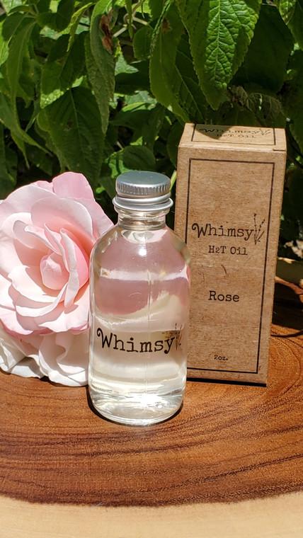 Whimsy H2T Oil Rose, Rose oil, Rose body oil, Rose hair oil, Rose hair and body oil