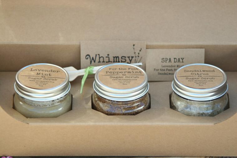 SPA DAYS sugar scrub trio gift set