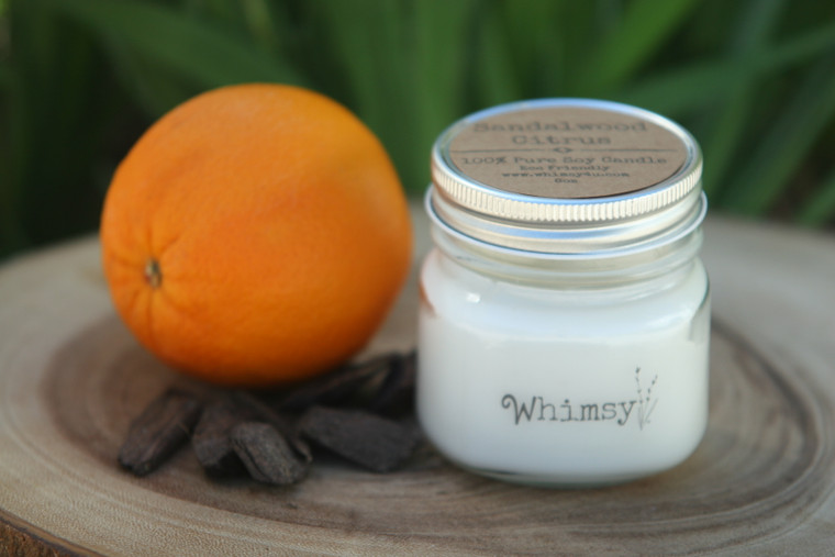 sandalwood citrus candle