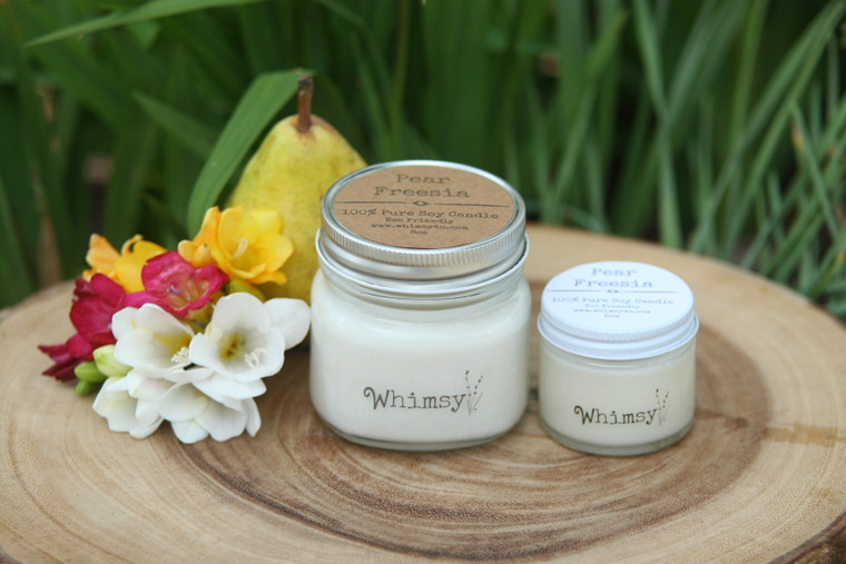 pear freesia soy candles