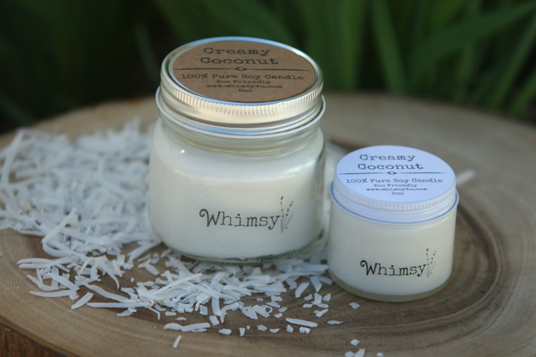 creamy coconut candles, coconut candles