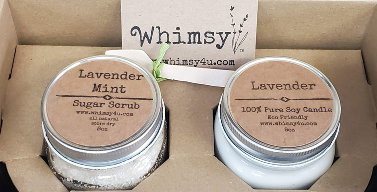 custom gift set, candle set, scrub set, gift set