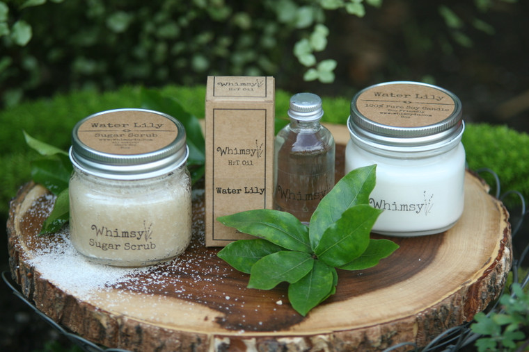 water lily, water lily collection, water lily oil, water lily scrub, water lily candle