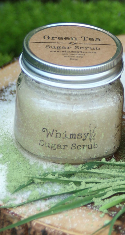 green tea, green tea scrub, green tea sugar scrub, light, fresh, citrus, lemongrass, pure, clean