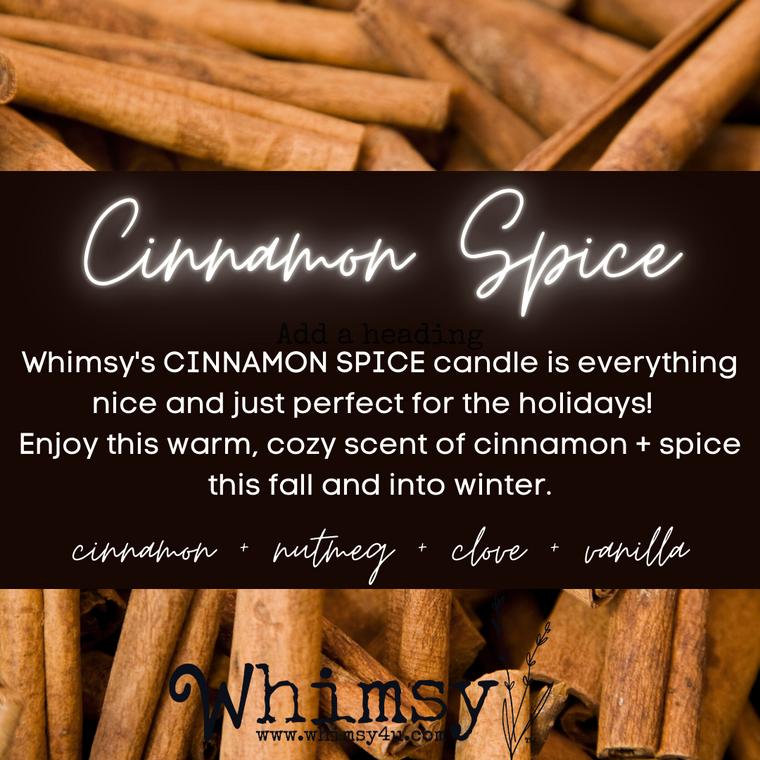 cinnamon spice soy candle, cinnamon, spice, cinnamon spice, holiday candle, fall candle