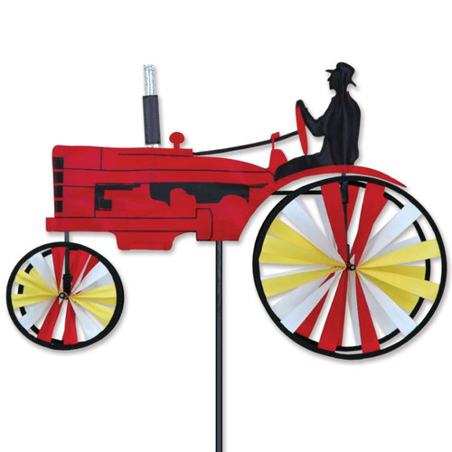 23 Inch Red Old Tractor Wind Spinner