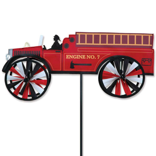21 Inch Fire Truck Wind Spinner