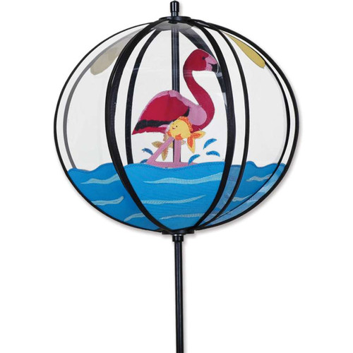 10 Inch Flamingo Ball Wind Spinner
