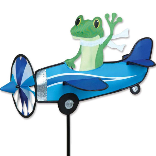 19 Inch Tree Frog Pilot Pal Airplane Wind Spinner