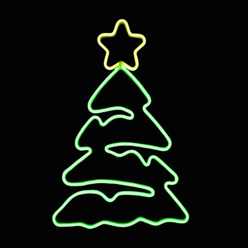 24x19 Inch Led Neon Christmas Tree With Star