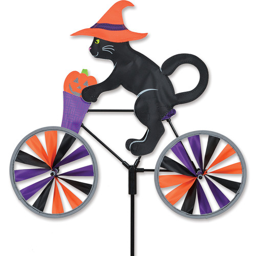 20 Inch Halloween Cat Bike Wind Spinner