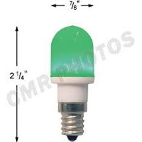 .7 watt T5 Led Green candelabra base 25 bulb pack