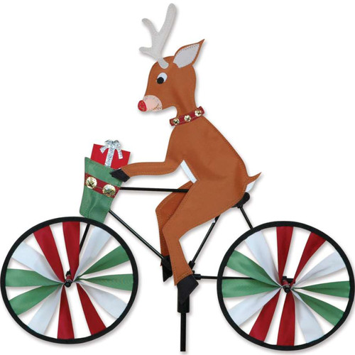 20 Inch Rudolph The Red Nose Reindeer Riding Bike Wind Spinner