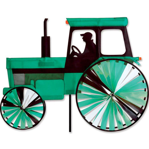 24 Inch Green Modern Tractor Wind Spinner
