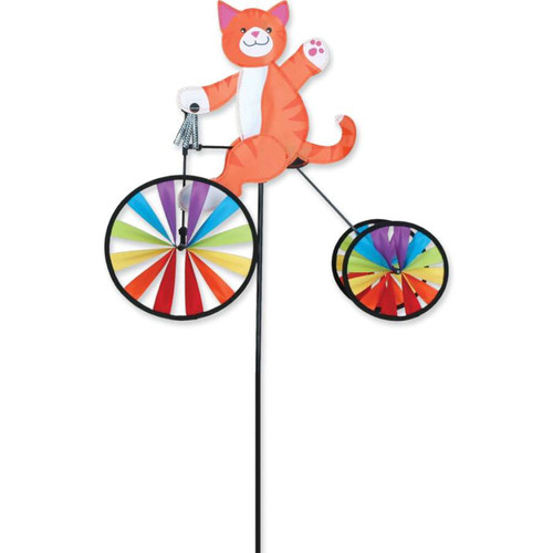 19 Inch Kitty Cat Tricycle Wind Spinner