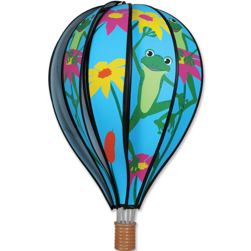 22 Inch Frogs Hot Air Balloon Wind Spinner