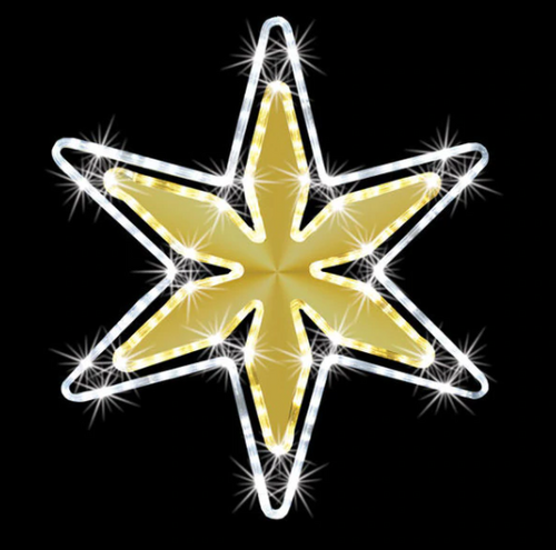 2 Foot Mirrored Shining Star With Twinkle Effect